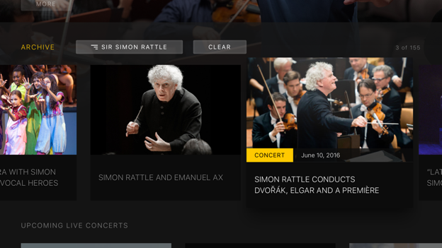 Digital Concert Hall App for Apple TV